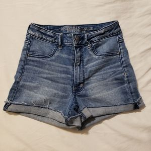 AEO Sky High Shortie Shorts